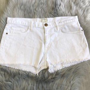 Current/Elliott • White Jean Shorts